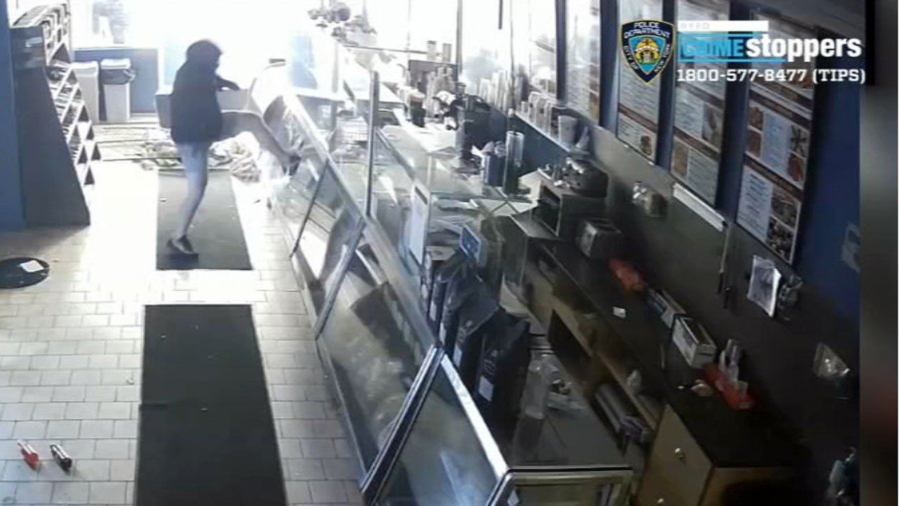 Bagel store trashed by suspects caught on camera in Brooklyn