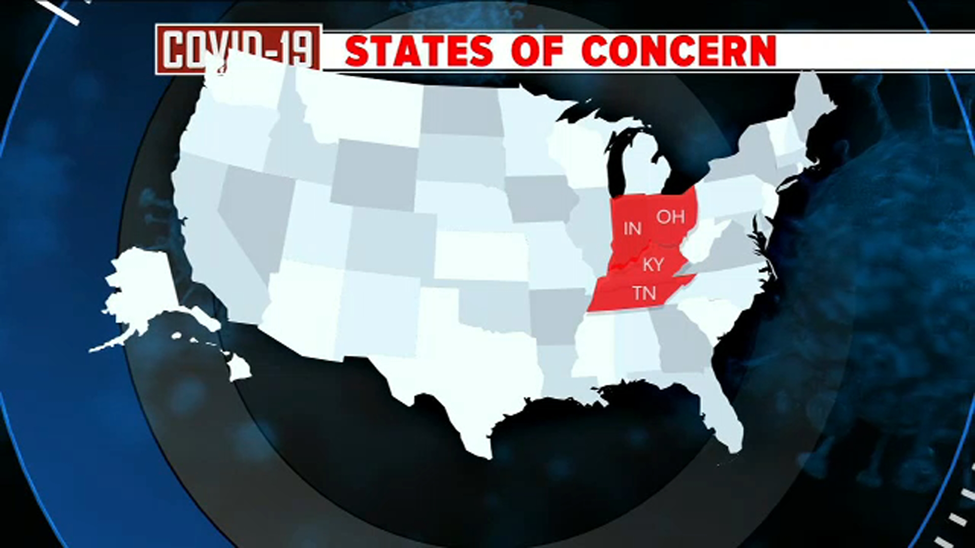 COVID-19 Updates: Concern over states in Midwest, South