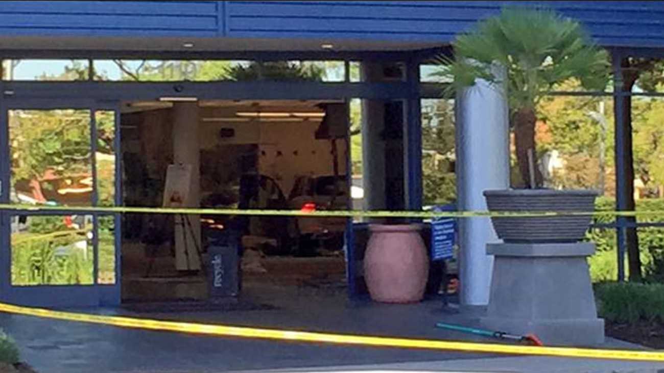 A woman was killed when an elderly driver crashed into a Livermore gym on Tuesday, September 22, 2015.