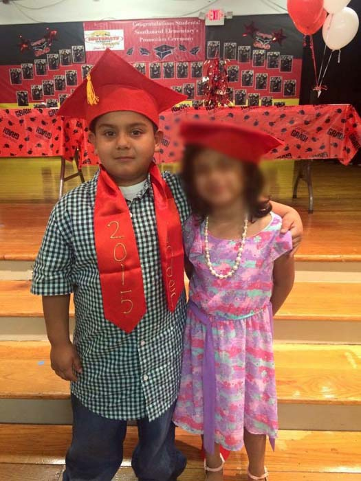 "<div class=""meta image-caption""><div class=""origin-logo origin-image none""><span>none</span></div><span class=""caption-text"">The 6-year-old, Moses Jimenez, seen at left, died after a drive-by shooting this morning in southeast Houston. The other child is not identified in this photo (KTRK Photo/ KTRK)</span></div>"