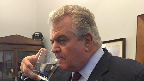 "<div class=""meta image-caption""><div class=""origin-logo origin-image none""><span>none</span></div><span class=""caption-text"">Rep. Brady and the Pope's water glass inside his office.</span></div>"