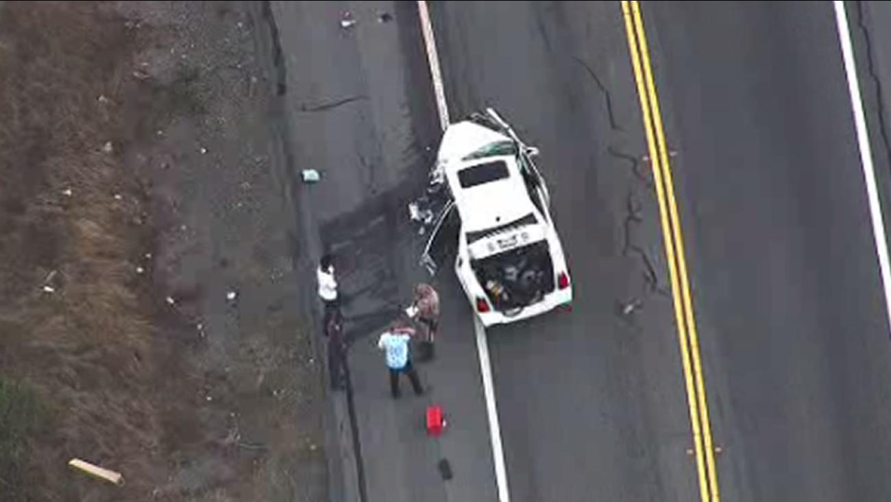 car crash on San Pablo Dam Road