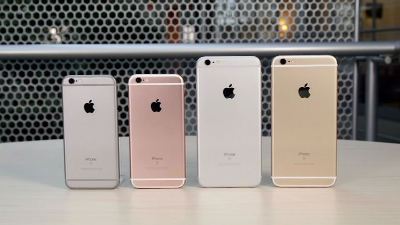iPhone 6 phones lined up