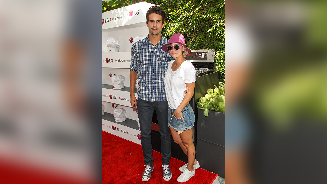 Ryan Sweating, left, and Kaley Cuoco attend the LG Fam to Table Series: ProBake Edition event held at The Washbow on Saturday, August 22, 2015