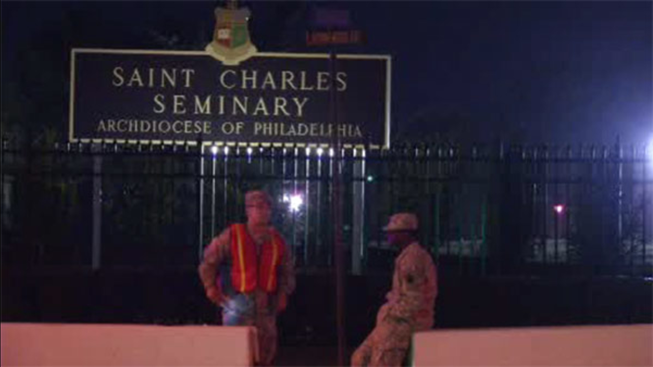 Fire in elevator shaft at St. Charles Seminary