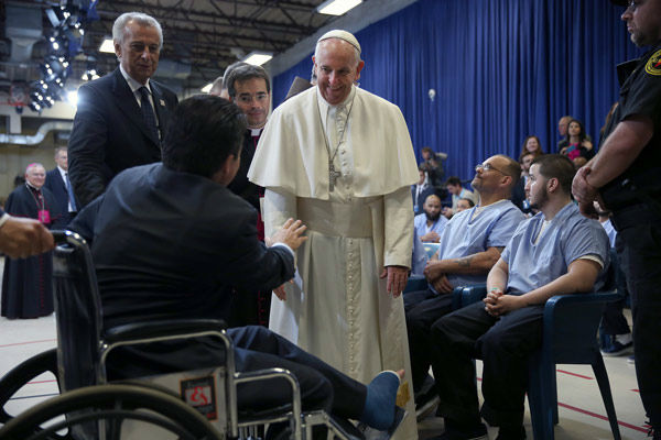 "<div class=""meta image-caption""><div class=""origin-logo origin-image none""><span>none</span></div><span class=""caption-text"">Pope Francis during his visit to the Curran Fromhold Correctional Facility in Philadelphia, Sunday, Sept. 27, 2015. (Photo/David Maialetti)</span></div>"