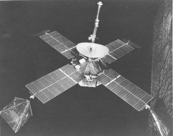 <div class='meta'><div class='origin-logo' data-origin='none'></div><span class='caption-text' data-credit='Photo/AP'>This is a view of Mariner 4 in flight attitude on July 13, 1965.</span></div>
