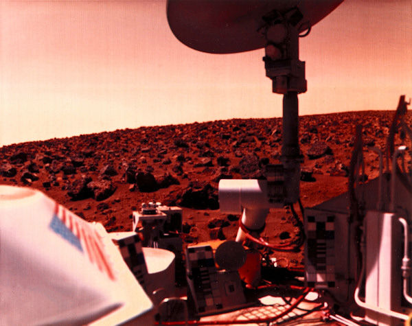 <div class='meta'><div class='origin-logo' data-origin='none'></div><span class='caption-text' data-credit='Getty'>This shows the red Martian landscape and part of the Lander itself. Viking 2 landed in the Utopia Planitia region of Mars in 1976.</span></div>