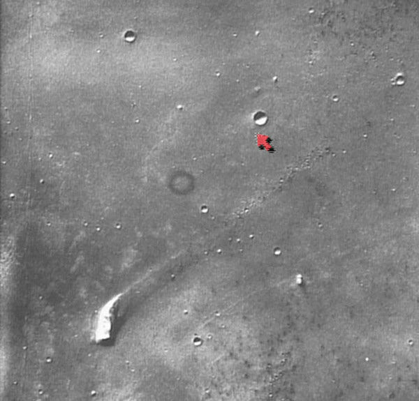<div class='meta'><div class='origin-logo' data-origin='none'></div><span class='caption-text' data-credit='Photo/AP'>The surface of the planet Mars is shown in this photo taken by the Viking orbiter in the late 1970s. The red arrow points to a crater near the Mars Pathfinder's 1997 location.</span></div>