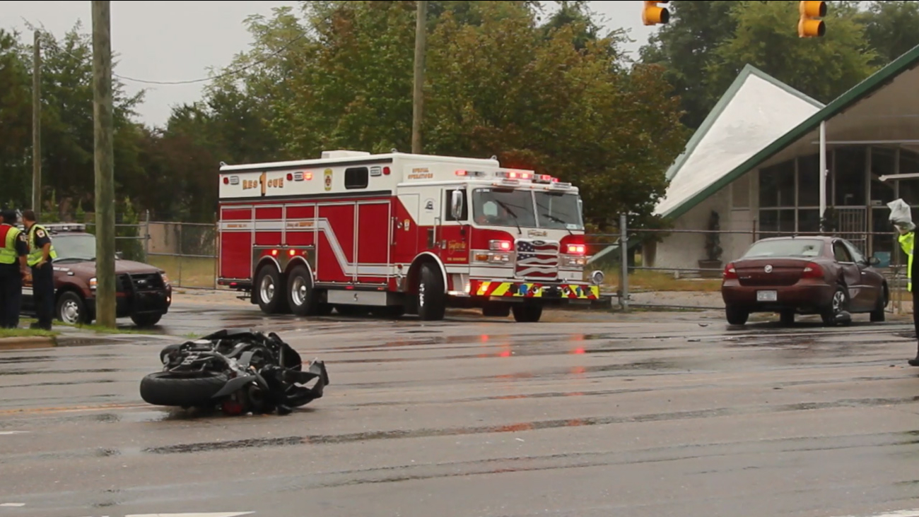 Motorcycle accident Monday September 28 in Fayetteville