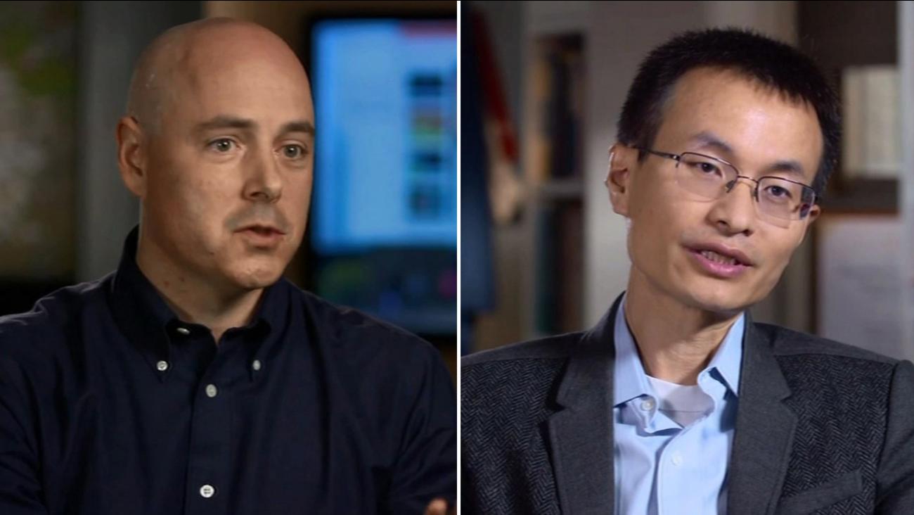FILE -- Stanford University computer scientist Christopher Re and UC Berkeley inorganic chemist Peidong Yang.