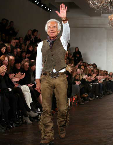 "<div class=""meta image-caption""><div class=""origin-logo origin-image none""><span>none</span></div><span class=""caption-text"">Ralph Lauren reacts to applause after presenting his fall fashion 2009 collection in New York, Friday, Feb. 20, 2009. (AP Photo/ Bebeto Matthews)</span></div>"
