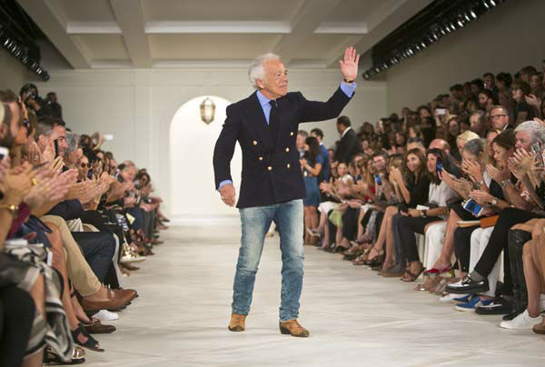 "<div class=""meta image-caption""><div class=""origin-logo origin-image none""><span>none</span></div><span class=""caption-text"">Ralph Lauren appears on the runway after showing his Spring 2016 collection during Fashion Week on, Thursday, Sept. 17, 2015, in New York. (AP Photo/ Bebeto Matthews)</span></div>"