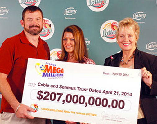 "<div class=""meta image-caption""><div class=""origin-logo origin-image none""><span>none</span></div><span class=""caption-text"">9. $414 million (Mega Millions). Won March 18, 2014. Winning ticket claimed by Raymond Moyer and Robyn Collier of Merritt Island, Fla. (Mega Millions)</span></div>"
