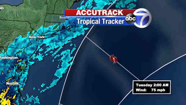 tracking joaquin new york city area outside cone in latest