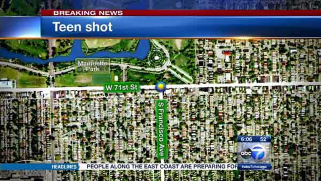 A 15-year-old boy was shot several times in Chicago's Marquette Park neighborhood.