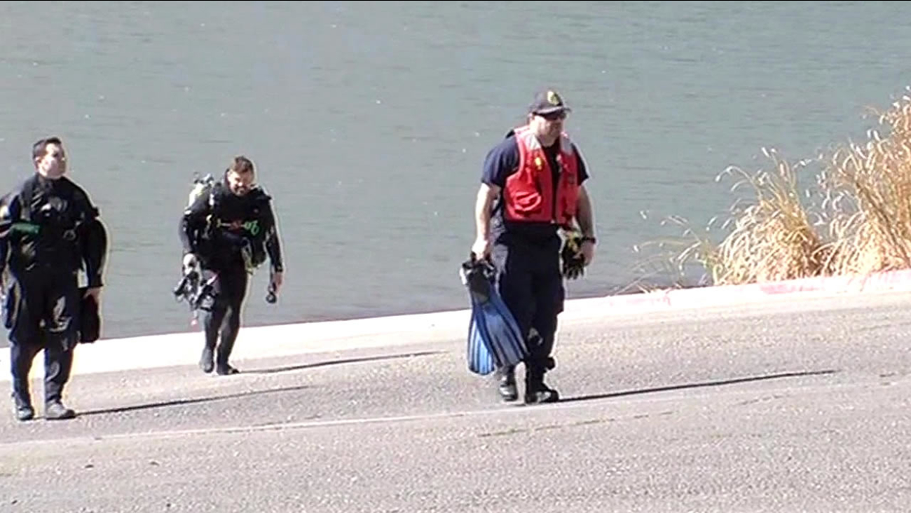 Dive teams search for a Salesforce employee reported missing at  Lake Del Valle near Livermore, Calif.