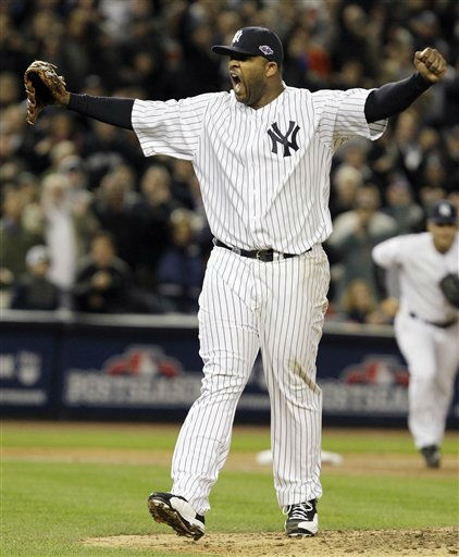 "<div class=""meta image-caption""><div class=""origin-logo origin-image none""><span>none</span></div><span class=""caption-text"">New York Yankees starting pitcher CC Sabathia reacts after Baltimore Orioles' J.J. Hardy grounded out with the bases loaded. (AP Photo/ Kathy Willens)</span></div>"
