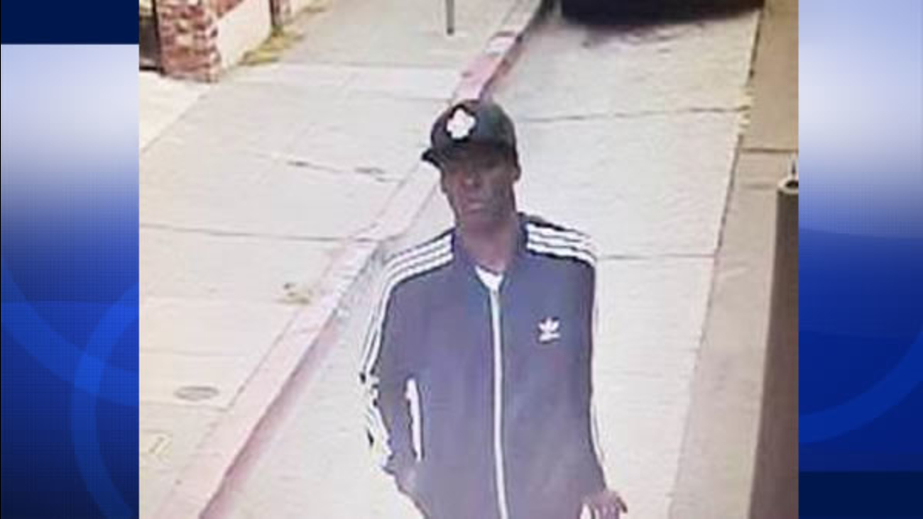 Police released this surveillance photo of a person of interest in the shooting death of a muralist in Oakland, Calif. on Tuesday, September 29, 2015.