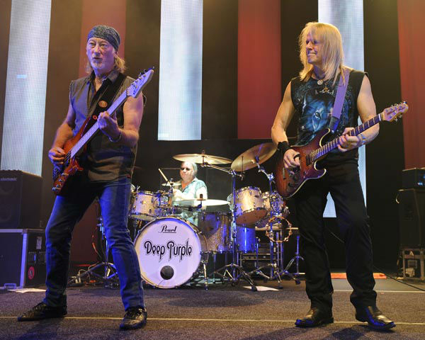 "<div class=""meta image-caption""><div class=""origin-logo origin-image none""><span>none</span></div><span class=""caption-text"">Roger Glover, Ian Paice and Steve Morse of Deep Purple perform on the final night of the 2014 Tour on August 31, 2014 in Hollywood, Florida. (AP Photo/ Jeff Daly)</span></div>"