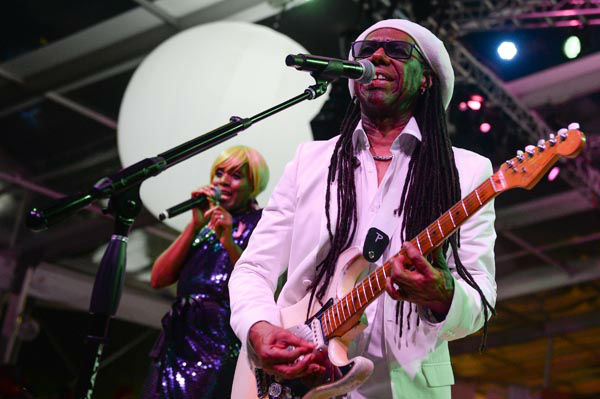 "<div class=""meta image-caption""><div class=""origin-logo origin-image none""><span>none</span></div><span class=""caption-text"">Nile Rodgers of Chic performs at the Party for Pink benefiting the Breast Cancer Research Foundation in Bridgehampton on Saturday, Aug. 1, 2015, in New York. (AP Photo/ Scott Roth)</span></div>"