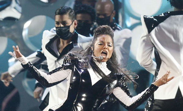 "<div class=""meta image-caption""><div class=""origin-logo origin-image none""><span>none</span></div><span class=""caption-text"">Janet Jackson performs at the MTV Music Video Awards, Sunday, Sept. 13, 2009 in New York. (AP Photo/ Jason DeCrow)</span></div>"