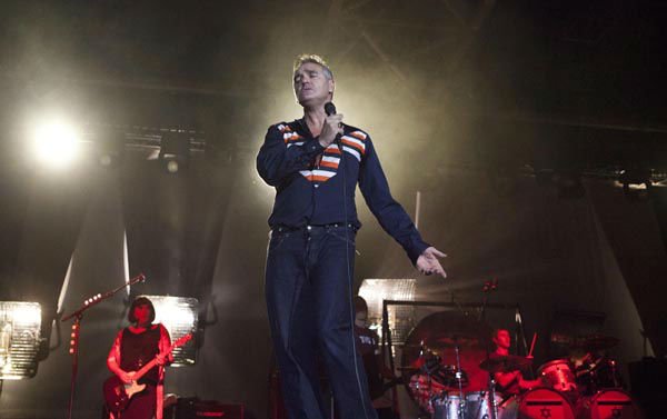 "<div class=""meta image-caption""><div class=""origin-logo origin-image none""><span>none</span></div><span class=""caption-text"">British rock singer Morrissey, the former front man of the alternative rock group The Smiths, sings during his concert in Tel Aviv, Israel, Saturday, July 21, 2012. (AP Photo/ Dan Balilty)</span></div>"