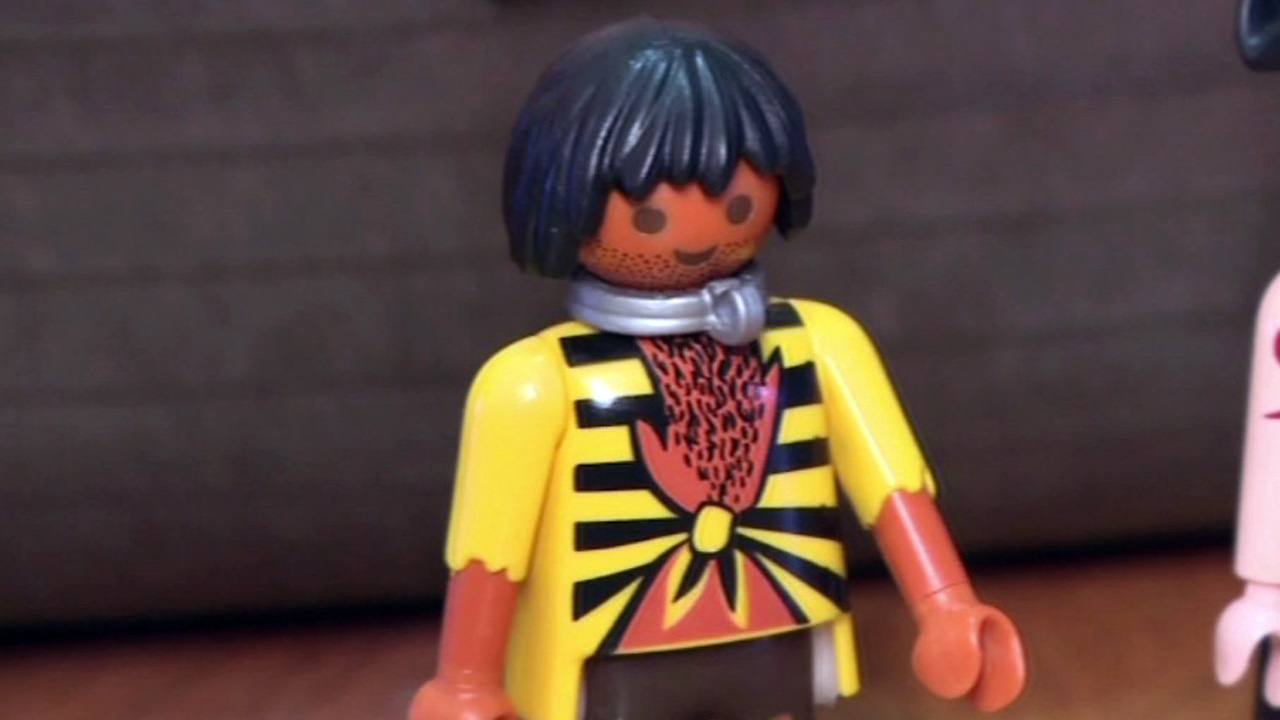 A Playmobil pirate ship came with several figurines, including one a mother says depicts a slave with a neck piece that looks very similar to a slave collar.