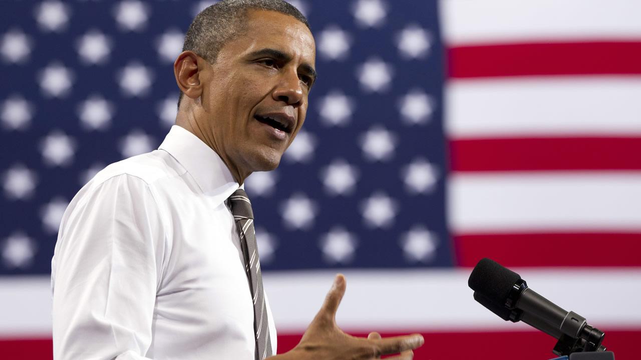 President Barack Obama speaks at University of Colorado Boulder, Tuesday, April 24, 2012, in Boulder, Colo. (AP Photo/Carolyn Kaster)