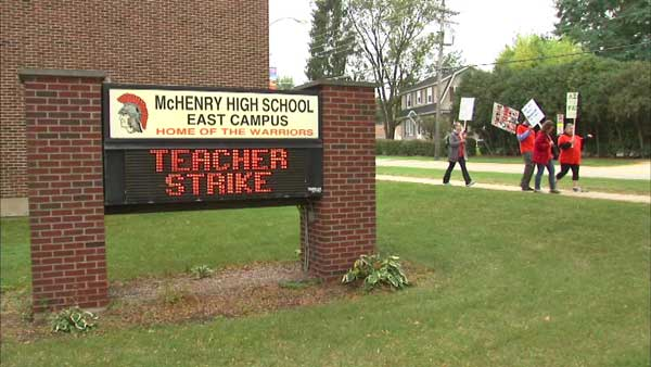Teachers are on strike in McHenry High School District 156.