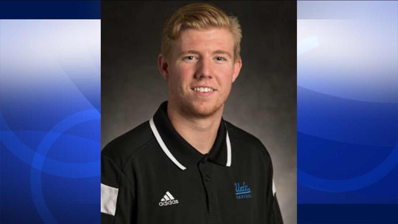 UCLA punter Adam Searl, 20, was arrested on suspicion of rape on Thursday, Oct. 8, 2015.