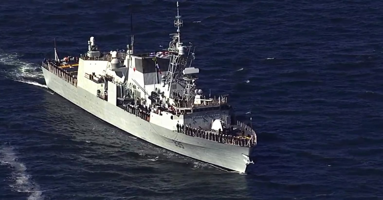 <div class='meta'><div class='origin-logo' data-origin='none'></div><span class='caption-text' data-credit='KGO-TV'>The Parade of Ships, part of Fleet Week, makes its way through the San Francisco Bay on Friday, October 9, 2015.</span></div>