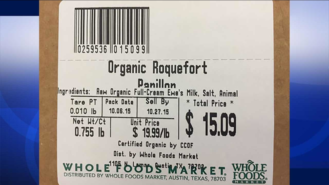 Whole Foods is recalling Papillon Organic Roquefort cheese nationwide due to possible listeria contamination.