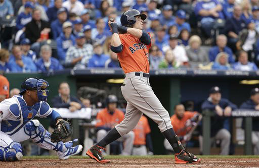 "<div class=""meta image-caption""><div class=""origin-logo origin-image none""><span>none</span></div><span class=""caption-text"">Houston Astros' Colby Rasmus, right, hits a solo home run during the third inning of Game 2 (AP Photo/ Charlie Riedel)</span></div>"