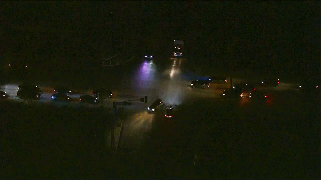 Air 7 shows a power outage that affected over 2,000 people in Lawndale Friday, Oct. 9, 2015.