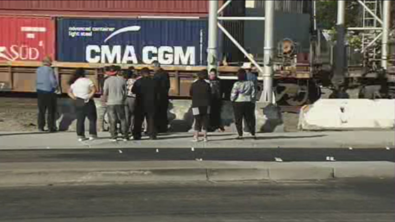 A bicyclist was killed trying to cross railroad tracks in Richmond, Calif., on Saturday, October 10, 2015.