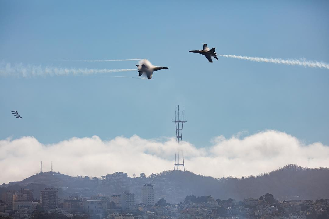 <div class='meta'><div class='origin-logo' data-origin='none'></div><span class='caption-text' data-credit='Photo submitted to KGO-TV by ay8ss/Instagram'>The Fleet Week air show featuring the Navy's Blue Angels and other military aircrafts took flight over the San Francisco Bay on Saturday, October 10, 2015.</span></div>