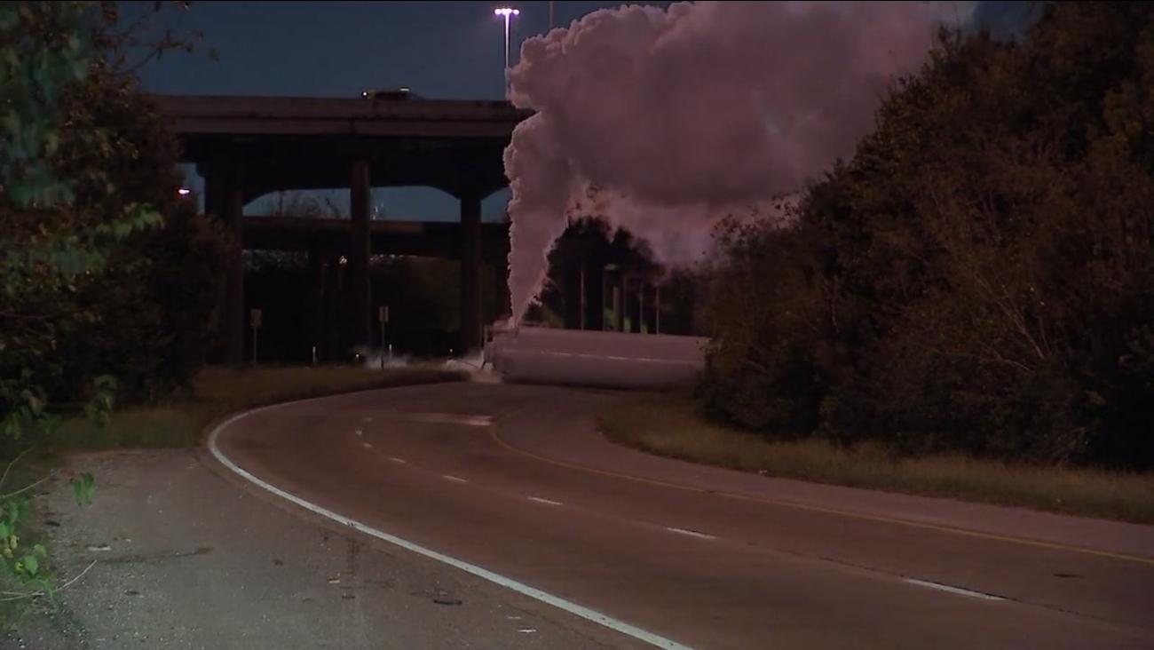 Helium truck accident in Houston