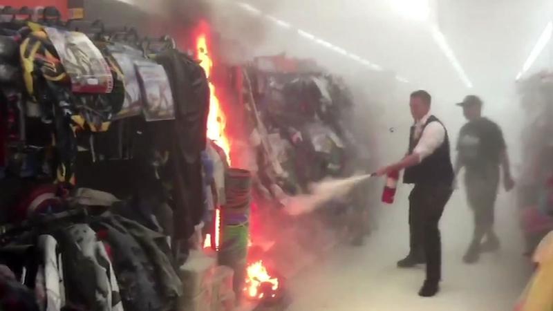 Man accused of starting fire inside San Leandro Walmart