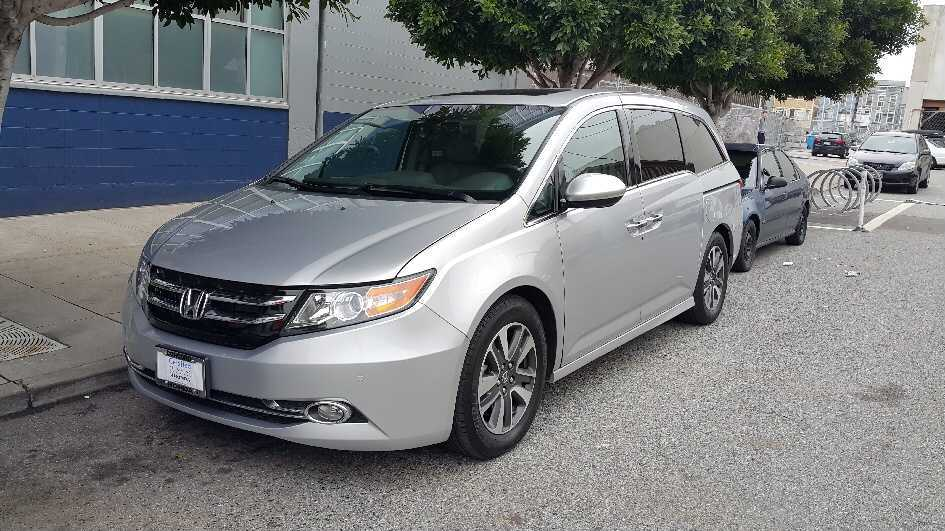 This shows Jeffrey Fang's 2014 silver Honda Odyssey before it was stolen on the 2100 block of Jackson Street in San Francisco on Feb. 6, 2021. License plate number: 7FPK543