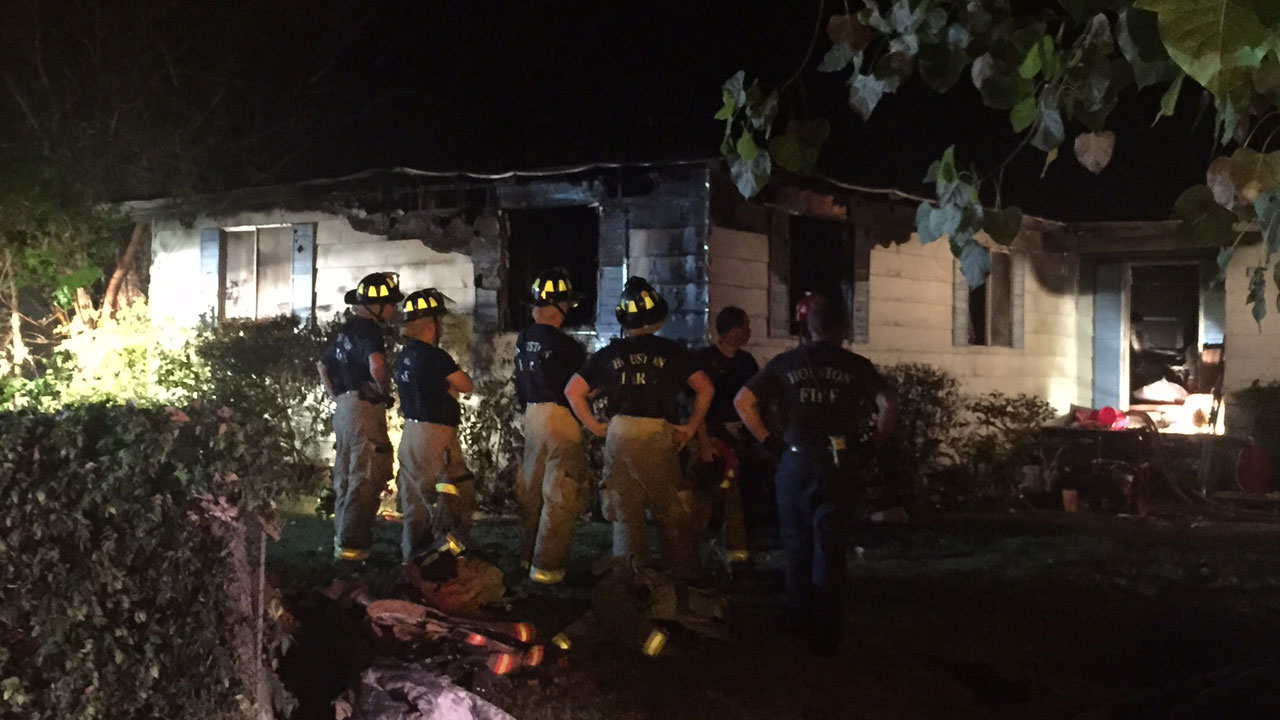 House fire on Willow St. in Houston
