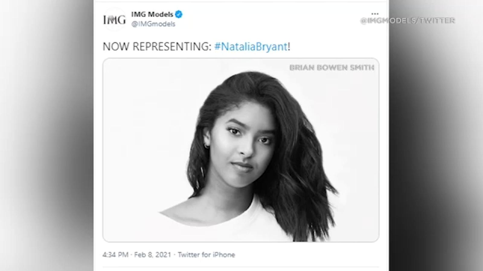 Kobe Bryant's daughter Natalia signs with IMG Models - KABC-TV
