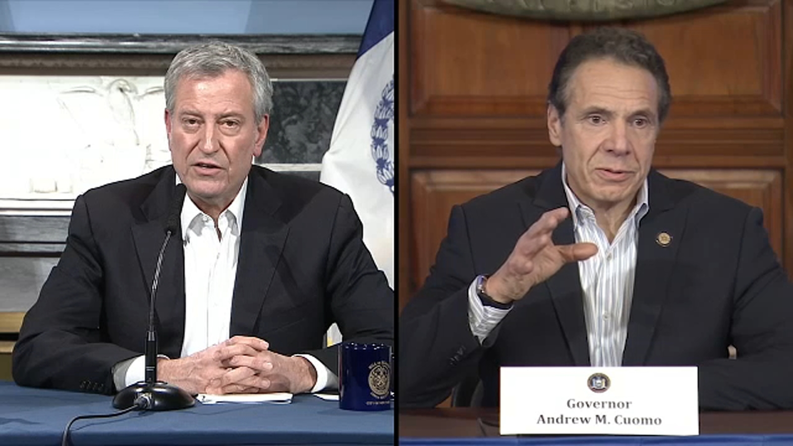 Cuomo, de Blasio at odds over vaccine distribution in NYC