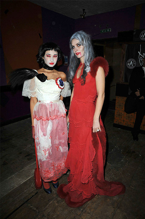 "<div class=""meta image-caption""><div class=""origin-logo origin-image none""><span>none</span></div><span class=""caption-text"">Stylist Hannah Bhuiya and jeweller Lara Bohinc at the 3rd annual Browns Focus Halloween Party held at the Shepherd's Bush Pavilion, London on October 30, 2009. (Dominic O'Neill/Photoshot/Getty)</span></div>"