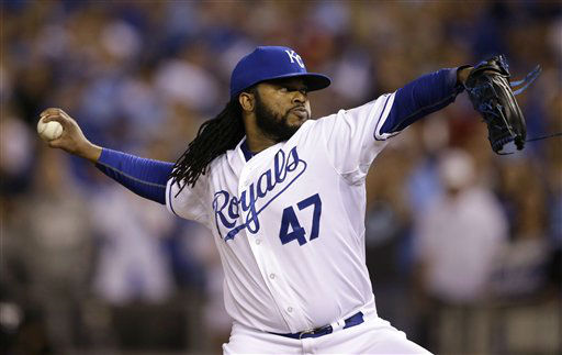 "<div class=""meta image-caption""><div class=""origin-logo origin-image none""><span>none</span></div><span class=""caption-text"">Kansas City Royals starting pitcher Johnny Cueto throws a pitch during the first inning (AP Photo/ Orlin Wagner)</span></div>"