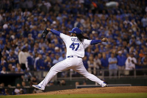 "<div class=""meta image-caption""><div class=""origin-logo origin-image none""><span>none</span></div><span class=""caption-text"">Kansas City Royals starting pitcher Johnny Cueto throws a pitch during the first inning of Game 5 (AP Photo/ Charlie Riedel)</span></div>"