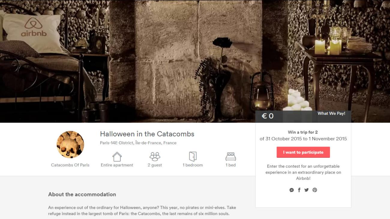 Airbnb hosts Halloween night in catacombs of Paris