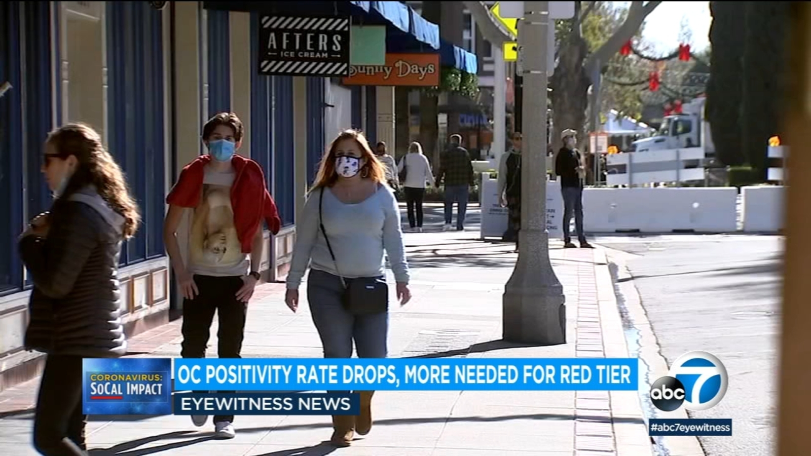 Orange County COVID tier status inches closer to less restrictive red tier - KABC-TV