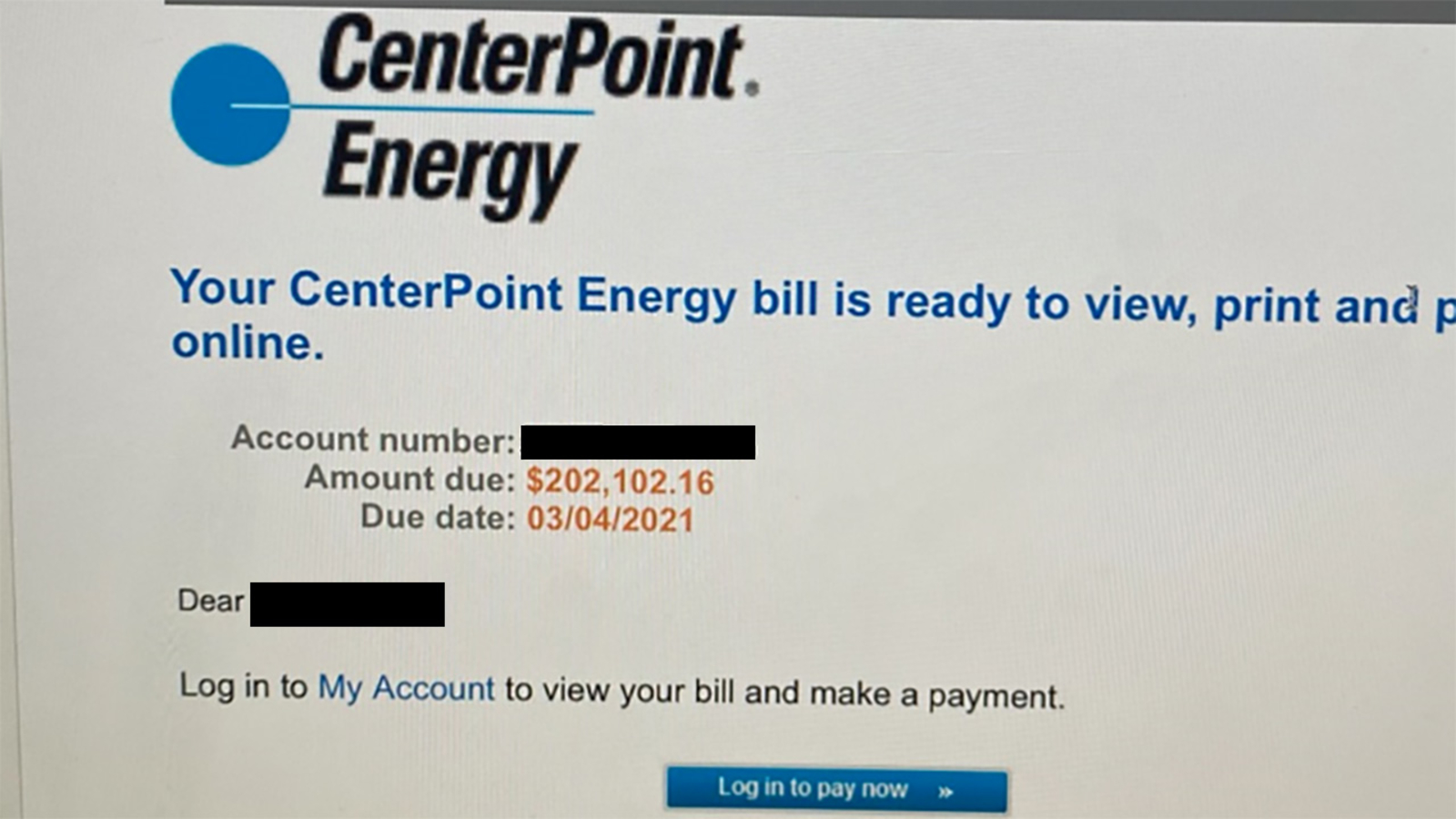 CenterPoint warns customers of incorrect email claiming they owe thousands of dollars - KTRK-TV