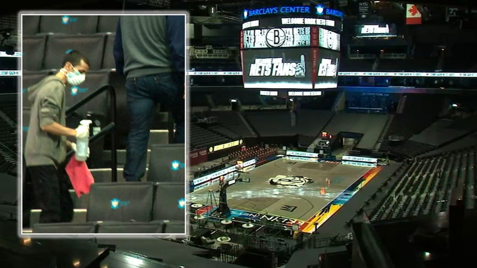 Coronavirus Update New York City: Barclays Center welcoming Nets fans inside for the first time in nearly a year